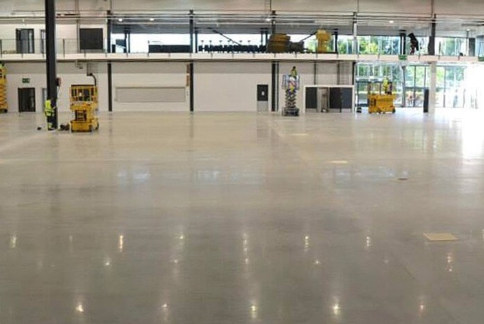 commercial concrete flooring polished in Surrey