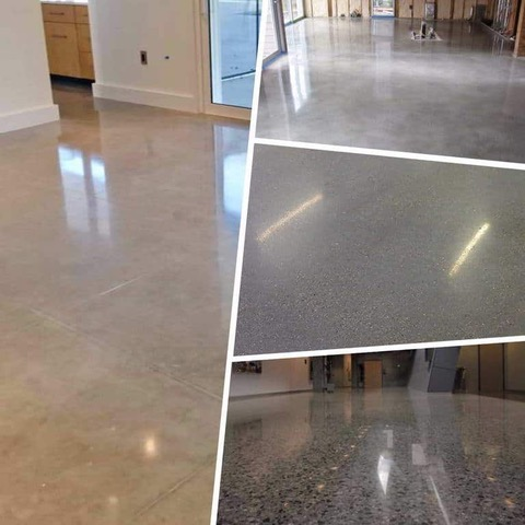 polished concrete flooring types